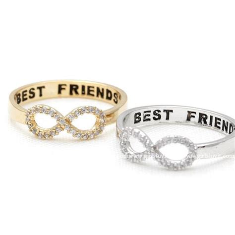 Best Rings by Infinity Best Friends Ring Crystals Girlsluv It