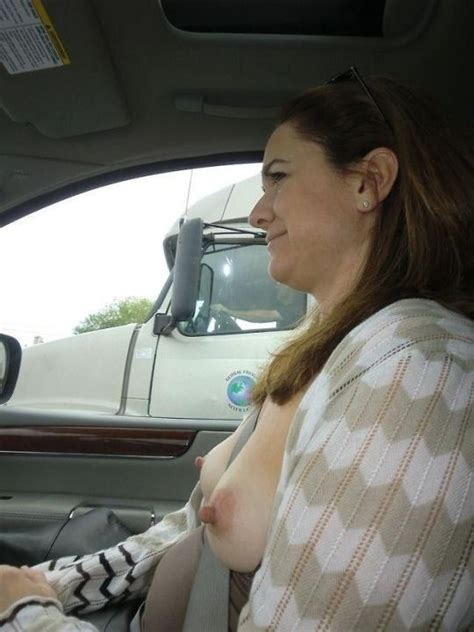 Sexy Milf Shows Off Eraser Nipples To A Truck NormanAbram