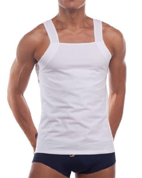 square crop mens cut croota mens tank top undershirt gymwear square cut