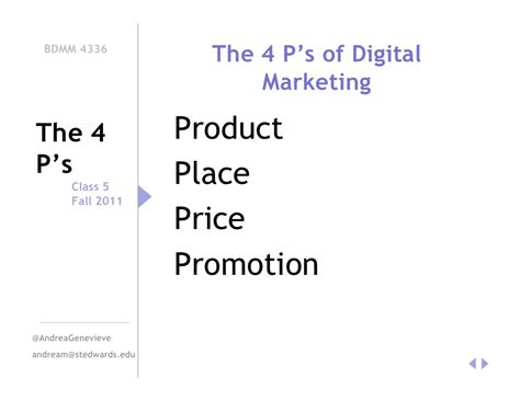 Marketing Classes 5 by The 4 P S Of Digital Marketing Class 5