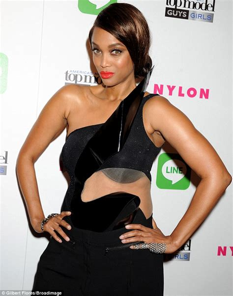 Latest House Design Tyra Banks Wears Bizarre Semi Sheer Top At America S Next