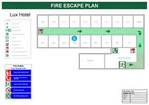 escape route template escape plan for hotels