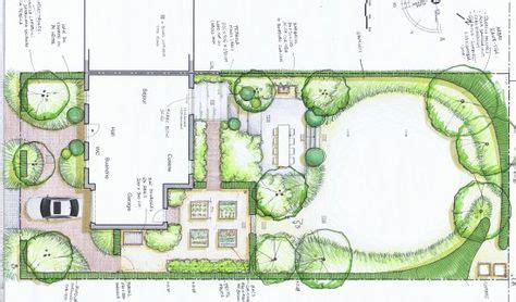 Jardin De Simple by Jardin De Lotissement Vue En Plan Esquisse Plan Jardin