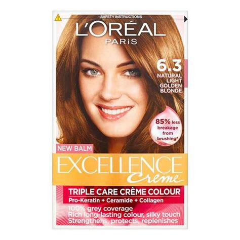 loreal excellence 6 light brown reviews l oreal excellence light golden brown 6 3 pharmacyfix