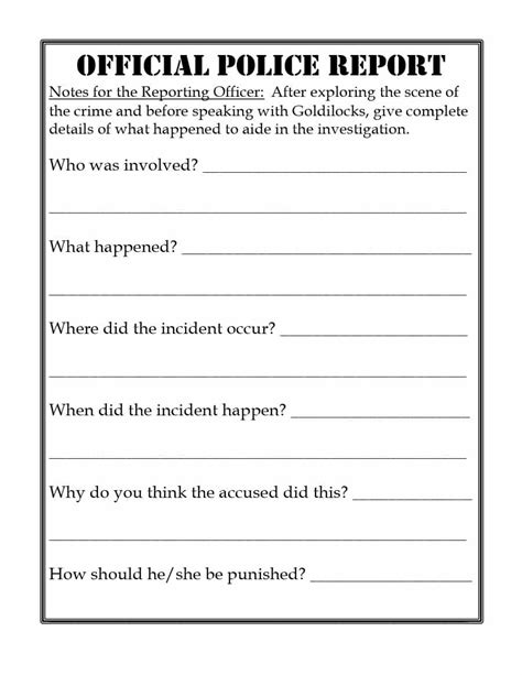 crime report template 20 report template exles real template lab