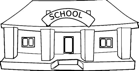 Coloring Page Of A School Building Coloring Home School Coloring Pages
