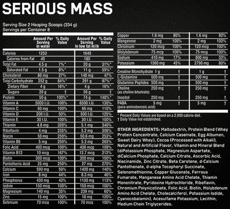 On Serious Mass optimum nutrition serious mass heavy duty weight gainer nz