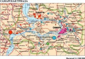 137 маршрут тольятти на карте