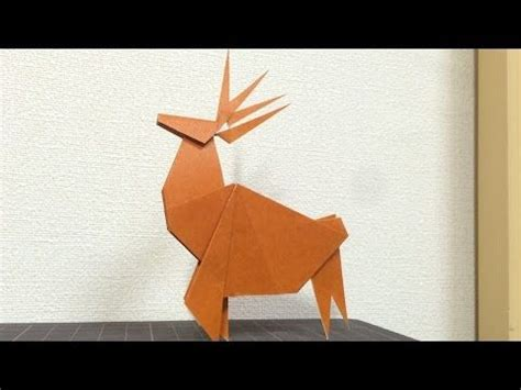 origami reindeer tutorial 410 best images about christmas origami on pinterest