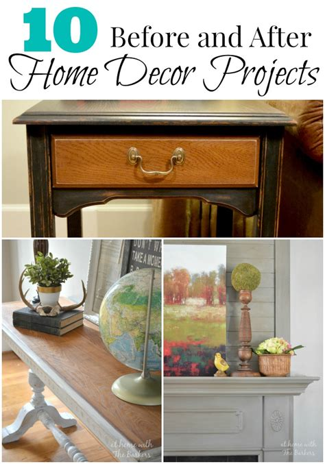 Home Decor Before And After by Before And After Home Decor Projects At Home With The Barkers