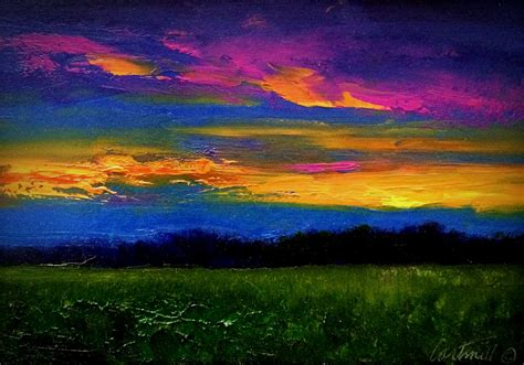 paint nite calgary locations blue sky sunset painting from sketch on location