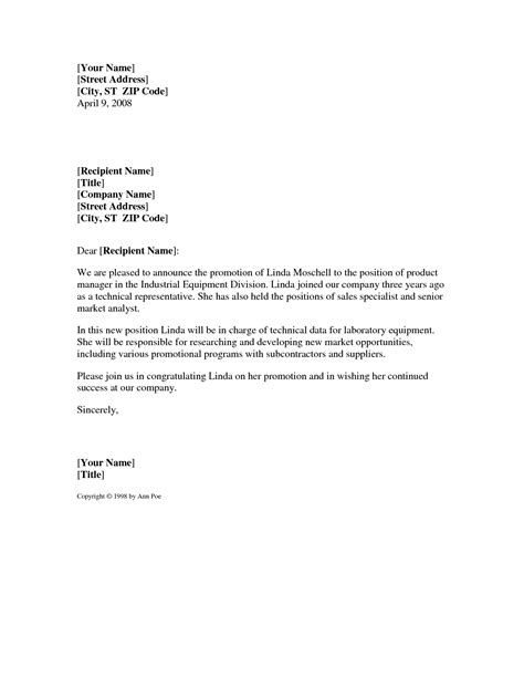 Customer Promotion Letter announcement letter sles mughals