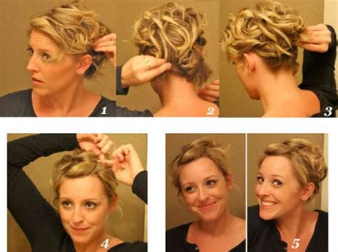 diy easy hairstyles for short hair front updo for short fine hair ideas