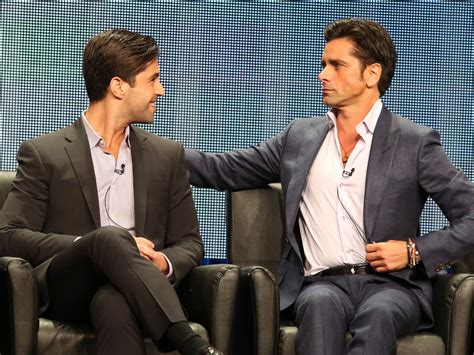 josh peck and john stamos josh peck says his grandfathered costar john stamos is