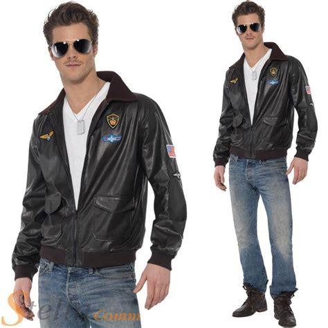 the official top gun jacket mens official top gun bomber jacket 80s army fancy dress costume ebay