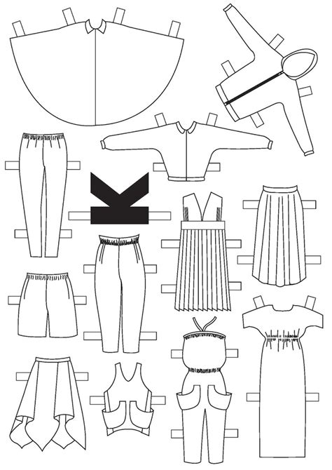 diy couture paper doll clothing template not your li l