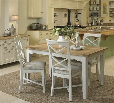 Kitchen Dining Tables And Chairs Uk Cottage Oak And Painted Small Extending Dining Table Oak Furniture Uk