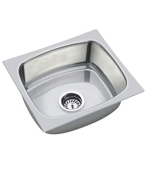 kitchen sink waste pipe buy kitchen sink 18 16 8 with sinkwaste coupling and waste pipe online at low price in india
