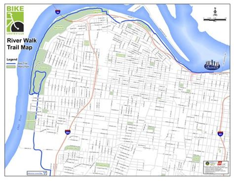 kentucky bike map louisville riverwalk trail and maplets