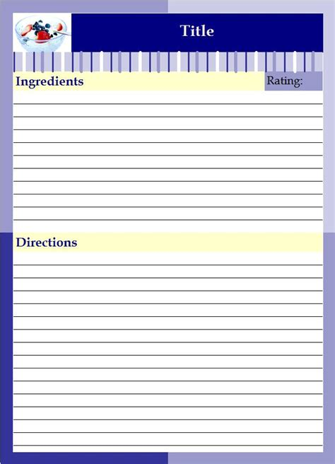 recipe binder templates recipe binder lazyday expressions
