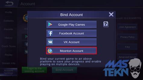 cara membuat akun mobile legend cara membuat akun montoon moobile legends untuk bind akun ml