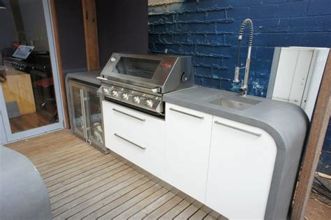 outdoor kitchen benchtops outdoor bar outdoor kitchen with polished concrete