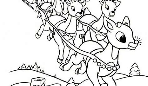 coloring pages of santa s 9 reindeer santa and reindeer coloring pages printable az coloring