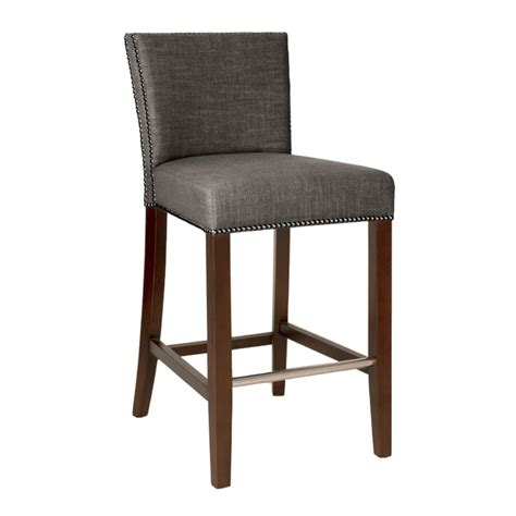 Fabric Upholstered Counter Stools by Marc Bar Stool Sepia Fabric Luxe Home Company