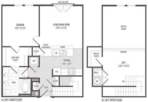 Loft Style Floor Plans by New One Bedroom House Plans Loft New Home Plans Design