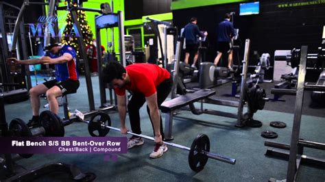superset bench press flat bench press superset barbell bent over row youtube