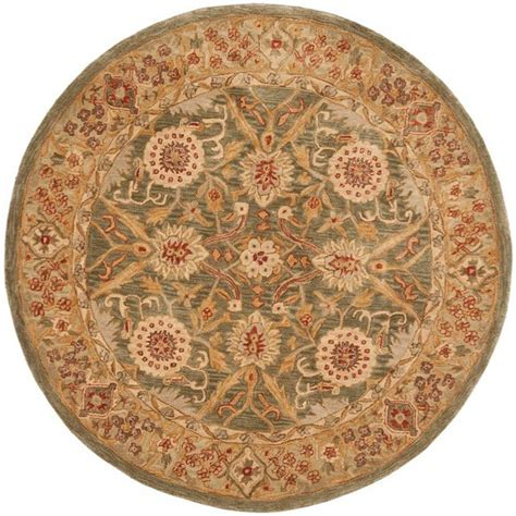 4 X 4 Area Rugs Safavieh Anatolia Ivory 4 Ft X 4 Ft Area Rug An516a 4r The Home Depot