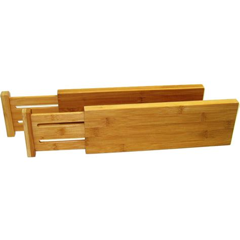 Bamboo Drawer Dividers expanding bamboo drawer dividers set of 2 in