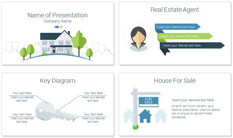 Real Estate Powerpoint Template Presentationdeck Com Real Estate Review Template