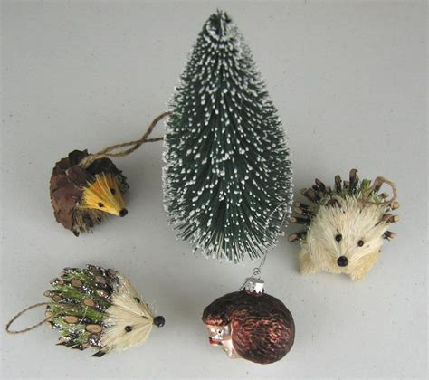 houseful of hedgehogs christmas hedgehog ornaments