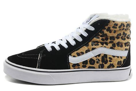 Vans Sk8hi Leopard Army the wall vans leopard print sk8 hi skate suede