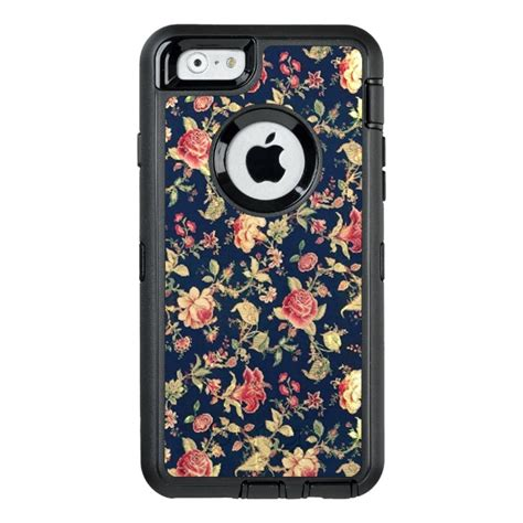 design your cover iphone 6 elegant vintage blue rose floral otterbox defender iphone