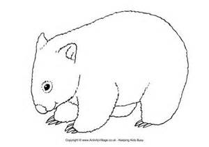 Aboriginal Australian Animal Outlines by Wombat Printables Wombat Colouring Page Wombats