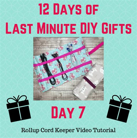 day 7 of 12 days of last minute diy gifts free