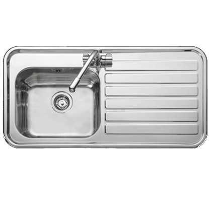 leisure sinks luxe 105 kitchen sink lx105l leisure kitchen sinks taps