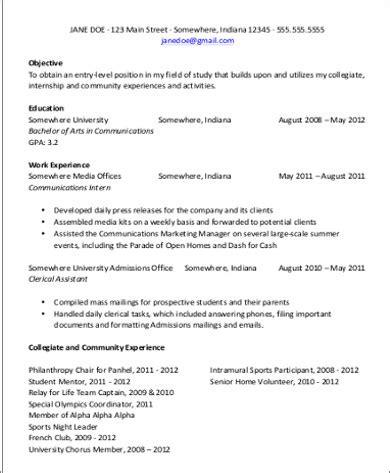 sle resume for 8 exles in word pdf