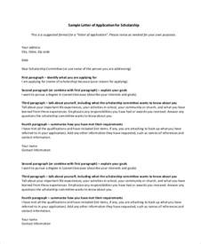 sle scholarship application letter 6 documents in
