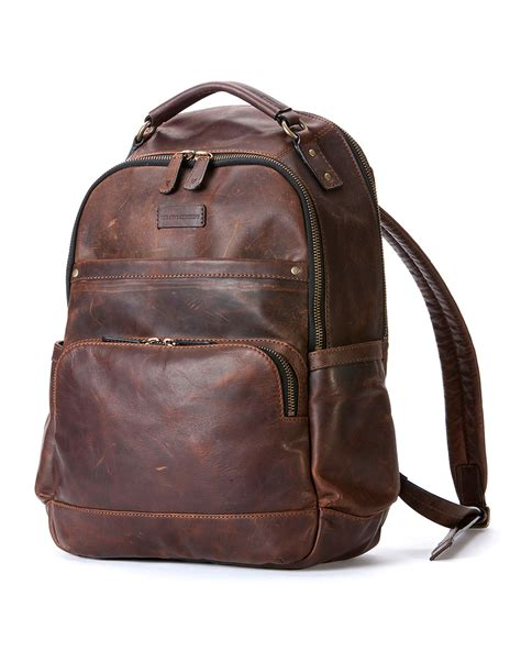 brown leather backpack backpacks