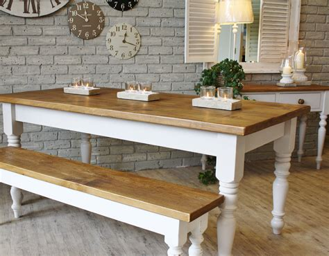 Bench Style Kitchen Table by Farmhouse Wooden Kitchen Tables As Ageless Rustic Interior