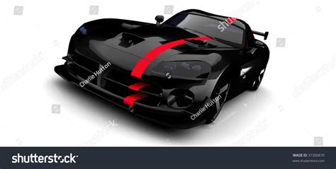sports car black and white black sports car with stripe isolated on white stock