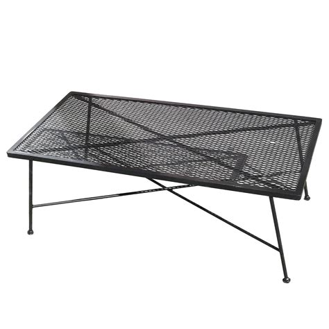 Wrought Iron Patio Coffee Table Wrought Iron And Mesh Low Coffee Table By Woodard Company For Sale At 1stdibs