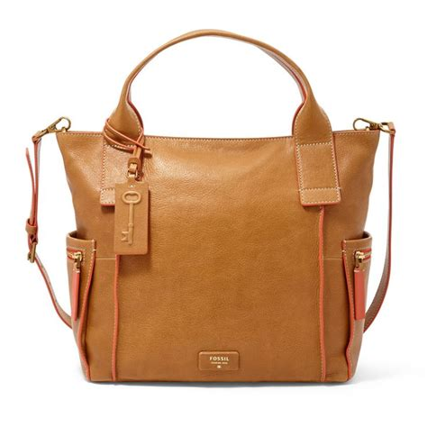 Fossil Emerson Satchel L Brown Sugar Original Bag Tas Ori Authentic 1 eeeep check out those awesome pink edges fossil