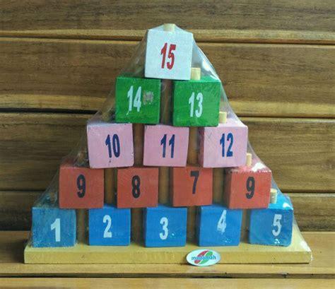 Menara Angka Mainan Edukasi alat peraga edukasi menara piramida angka madaniah