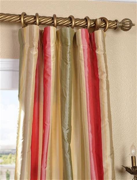 silk striped drapes buy bellevue silk taffeta stripe curtains and drapes