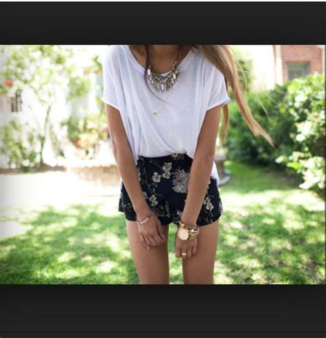 Sweet And Girly Shorts by Shorts Summer Flowered Shorts Flowers Black