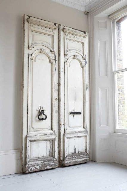 white shabby chic antique doors shutters doors